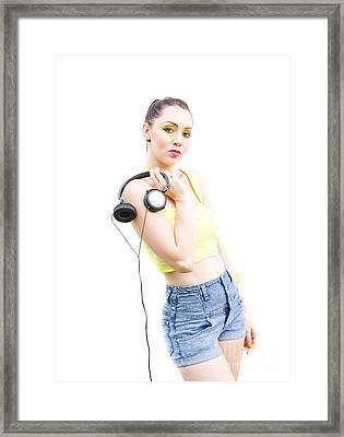 Eighties Streetwear Woman Framed Print by Jorgo Photography - Wall Art Gallery