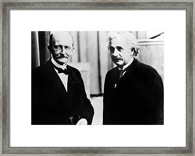 Einstein And Max Planck Framed Print by Emilio Segre Visual Archives/american Institute Of Physics