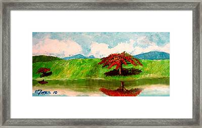 El Lago Framed Print