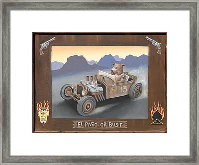 El Paso Or Bust Framed Print by Stuart Swartz