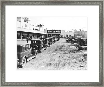 El Patio Auto Laundry Framed Print