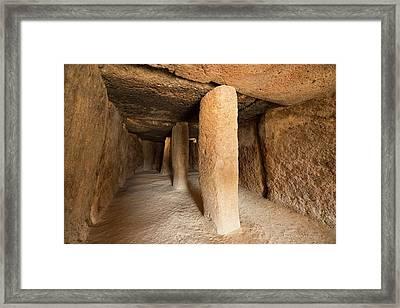 El Torcal Megalithic Burial Mound Framed Print by David Parker