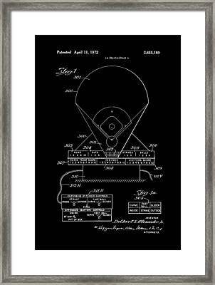 Electric Baseball Game Patent 1972 Framed Print by Mountain Dreams