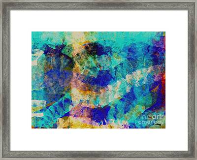 Electric Blue Framed Print by Julio Haro