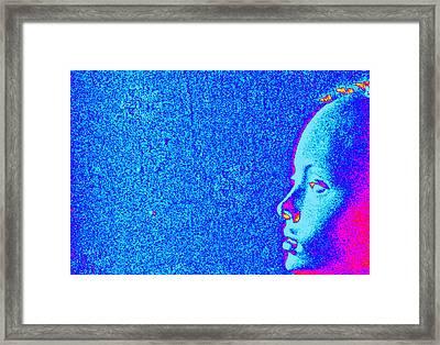 Electric Blue Sheepish Framed Print by Magnus Sebastian