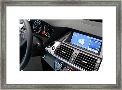 Electric Car Charging Framed Print by Ibm Research