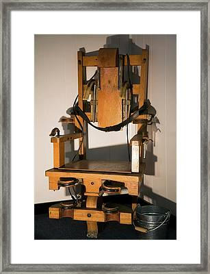 Electric Chair Framed Print by Jim West
