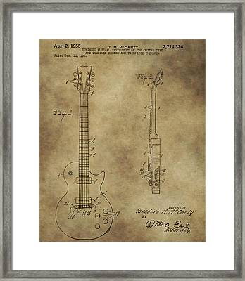 Electric Guitar Patent Framed Print