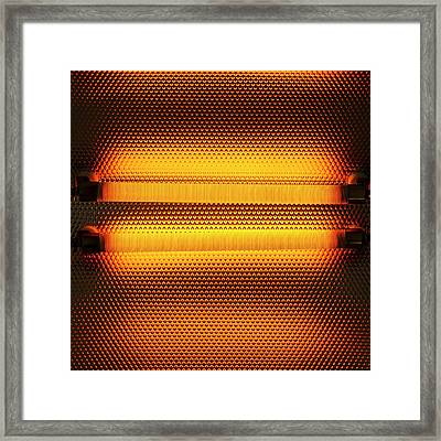 Electric Heater Framed Print by Science Photo Library