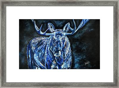 Electric Moose Framed Print by Teshia Art