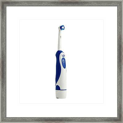 Electric Toothbrush Framed Print by Science Photo Library