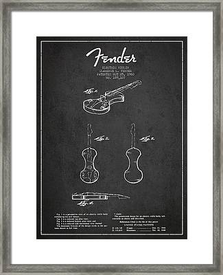 Electric Violin Patent Drawing From 1960 Framed Print