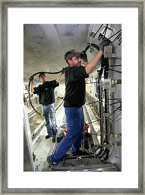 Electric Wiring In Train Construction Framed Print