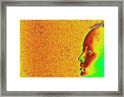 Electric Yellow Sheepish Framed Print by Magnus Sebastian