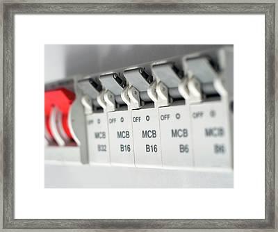 Electrical Circuit Breakers Framed Print by Robert Brook
