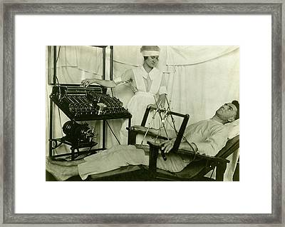 Electrical Treatment Of Shell Shock Framed Print by Otis Historical Archives, National Museum Of Health And Medicine