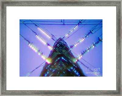 Electricity Power Pylon Framed Print by Richard Kail
