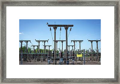 Electricity Substation Framed Print by Robert Brook