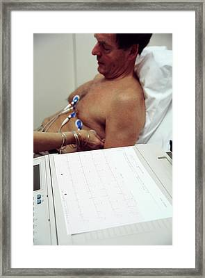 Electrocardiography Framed Print by Antonia Reeve/science Photo Library