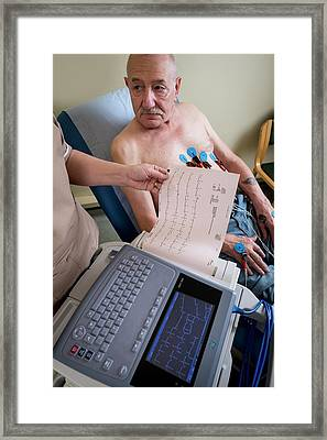Electrocardiography Test Framed Print