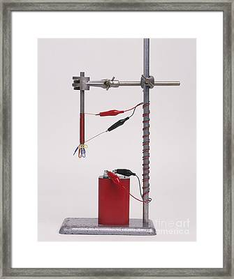 Electromagnetic Experiment Framed Print by Andy Crawford / Dorling Kindersley