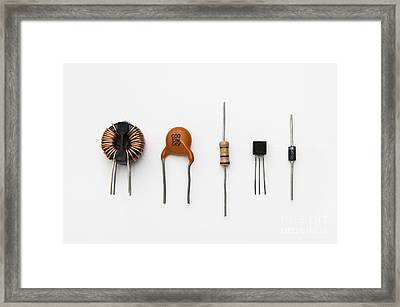 Electronic Components Framed Print by GIPhotoStock