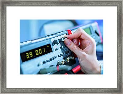 Electronic Control Panel Framed Print by Wladimir Bulgar