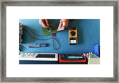 Electronic Measuring Instruments Framed Print by Wladimir Bulgar