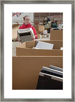Electronic Waste Collection Framed Print by Jim West