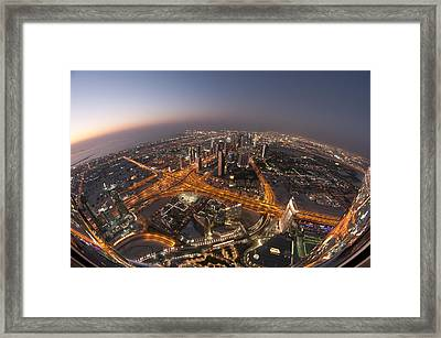 Electropolis Framed Print by Robert Work