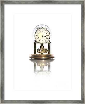 Elegant Clock Framed Print by Jorgo Photography - Wall Art Gallery