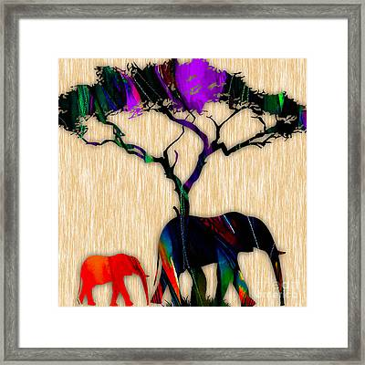Elephant Painting Framed Print