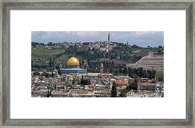 Elevated View Of A City, Old City Framed Print
