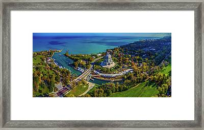 Elevated View Of Bahai Temple Framed Print