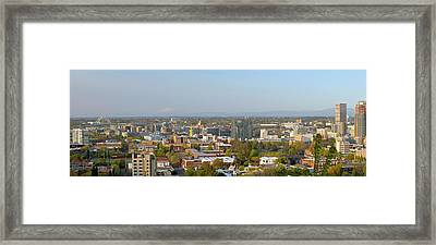 Elevated View Of Buildings In The City Framed Print by Panoramic Images