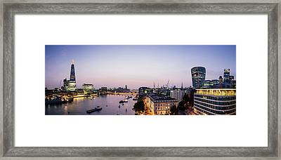 Elevated View Of Buildings Framed Print by Panoramic Images