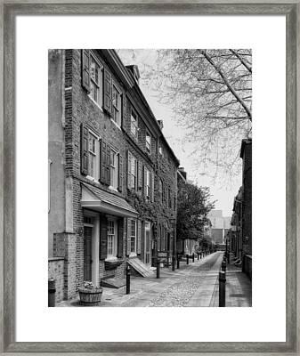 Elfreth's Alley Philadelphia Framed Print