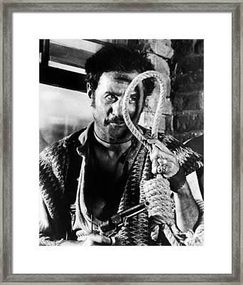 Eli Wallach In Il Buono, Il Brutto, Il Cattivo.  Framed Print by Silver Screen