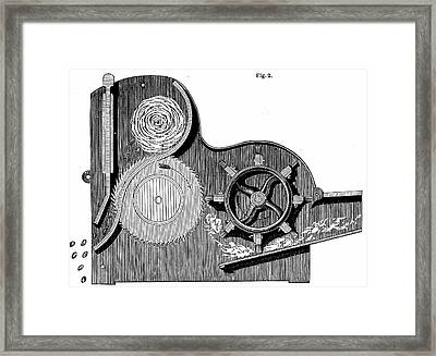 Elihu Whitney's Saw-gin Framed Print by Universal History Archive/uig