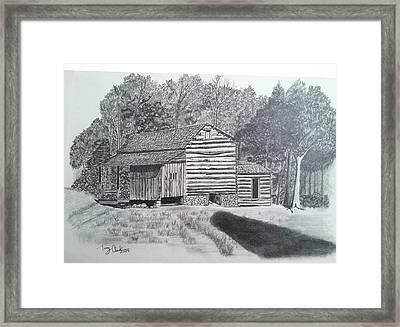 Elijah Oliver Cabin Framed Print by Tony Clark