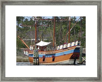Framed Print featuring the photograph Elizabeth II Replica 2 by Cathy Lindsey