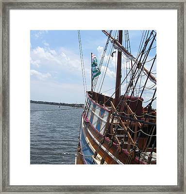 Framed Print featuring the photograph Elizabeth II Replica 5 by Cathy Lindsey
