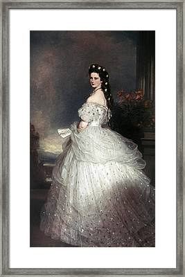 Elizabeth Of Austria (1837-1898) Framed Print by Granger