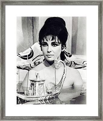 Elizabeth Taylor In Cleopatra  Framed Print by Silver Screen