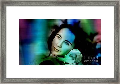 Elizabeth Taylor Framed Print by Marvin Blaine