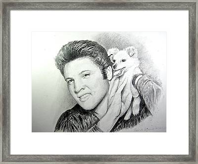 Framed Print featuring the painting Elvis And Sweet Pea by Patricia Schneider Mitchell