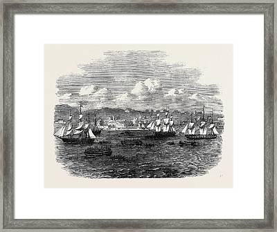 Embarkation Of The 13th Or Prince Alberts Light Infantry Framed Print