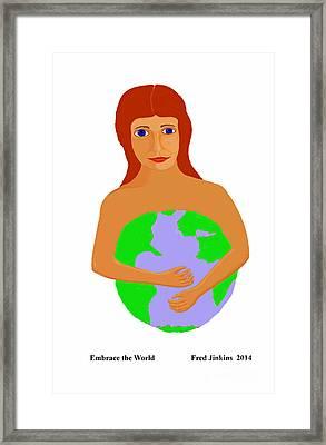 Embrace The World Framed Print