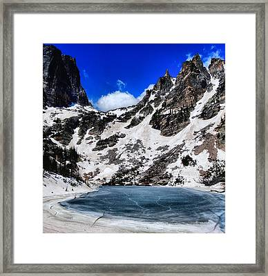 Emerald Lake In Rocky Mountain National Park Framed Print