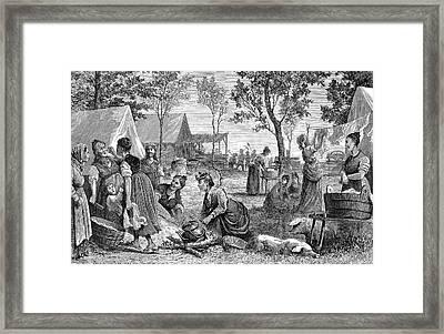 Emigrants Arkansas, 1874 Framed Print by Granger